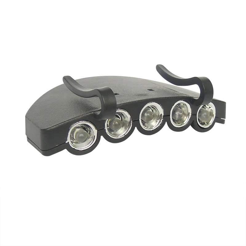 5 LED clip on cap brim lamp 905
