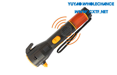 Dynamo Rechargeable multifunctional acousto-optic alarm self rescue LED flashlight TL911 siren sound alarm