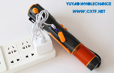 Rechargeable Multifunctional Acousto-optic Alarm Self Rescue Flashlight TL119CF AC charge