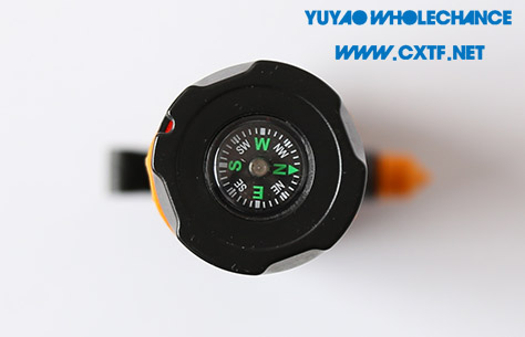 Dynamo Rechargeable multifunctional acousto-optic alarm self rescue LED flashlight TL911 compass