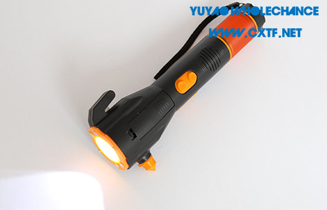 Dynamo Rechargeable multifunctional acousto-optic alarm self rescue LED flashlight TL911 1w led flashlight