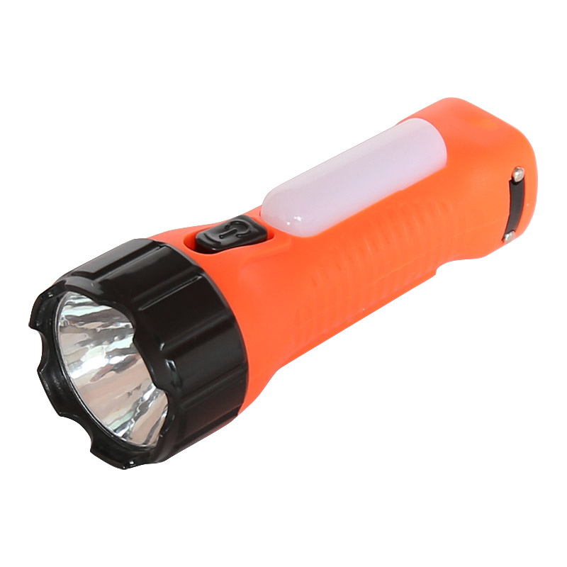 solar rechargeable led flashlight with side light 8817A